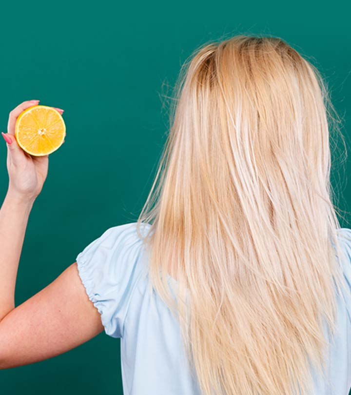 عصير الليمون لتفتيح لون شعرك